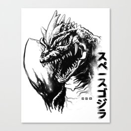 Waterbrushed Space King Canvas Print