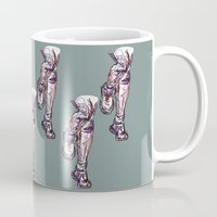 run Mugs featuring Run by Ursula Rodgers