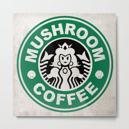 Super Mario's Mushroom Coffee Metal Print