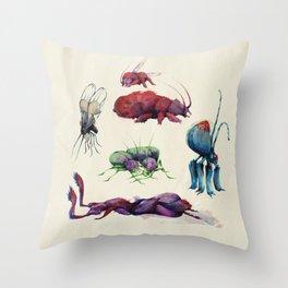Iridescent Bugs - Set A Throw Pillow