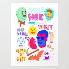 Super Gore Art Print