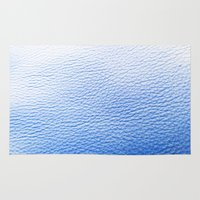 leather Area & Throw Rugs featuring Blue Leather by The Wellington Boot
