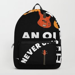 Old man with a Guitar | Funny Music Gift Backpack