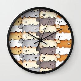 Sweet Little Fluff Balls Wall Clock