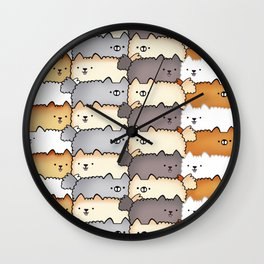 Sweet Little Fluff Balls Wall Clock