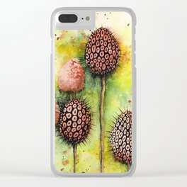 """""""it's prickly"""" watercolor painting Clear iPhone Case"""
