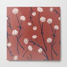 Dandelions on Earth Red Metal Print