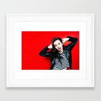 charli xcx Framed Art Prints featuring Charli XCX by behindthenoise