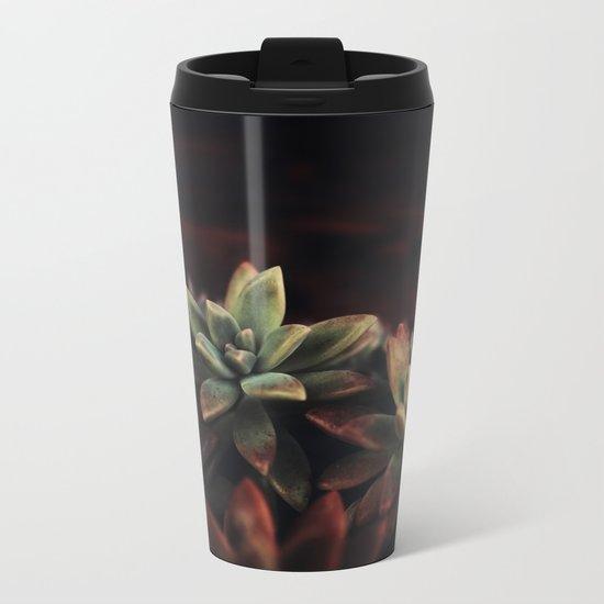 succulent cactus Metal Travel Mug