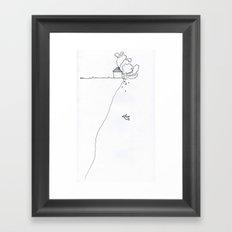LOCATION, LOCATION, LOCATION Framed Art Print