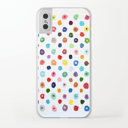 Concentric Confetti Polka Daubs Clear iPhone Case