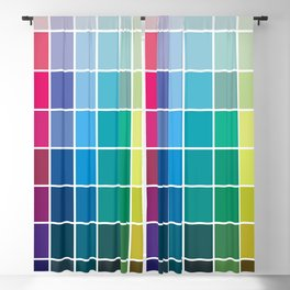 Colorful Soul - All colors together Blackout Curtain