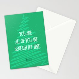 Beneath the tree Stationery Cards