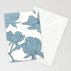 Roses in Blue Stationery Cards