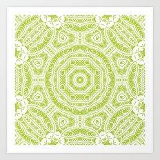 Spring Botanic Mandala Art Print