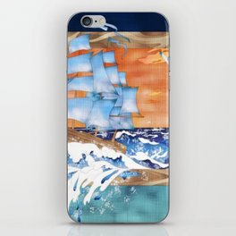Ship Sails Out of Frame iPhone Skin