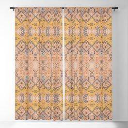 N218 - Mustard Yellow Oriental Heritage Boho Traditional Moroccan Desert Style Blackout Curtain