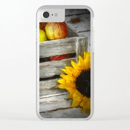 apples n flowers Clear iPhone Case