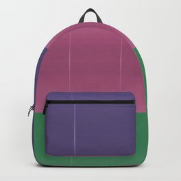 Purple Pink Green Bold Stripes Backpack