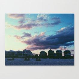AL Beach Houses Canvas Print