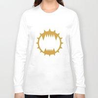 warhammer Long Sleeve T-shirts featuring Warhammer 40k World Eaters Minimalist Print by Milos Cakovan