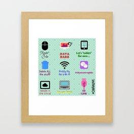 Tacky Techy Framed Art Print