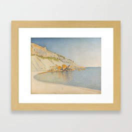 Cassis, Cap Lombard, Opus 196 Framed Art Print