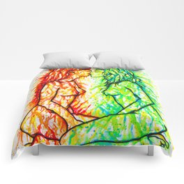 Sexual Energy - Erotic Art Illustration Nude Sex Sexual Love Lovers Relationship Lesbian Couple LGBT Comforters