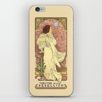 nouveau iPhone & iPod Skins featuring La Dauphine Aux Alderaan by Karen Hallion Illustrations