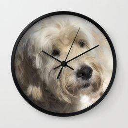 Dog Goldendoodle Wall Clock