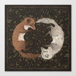 Foxes Canvas Print