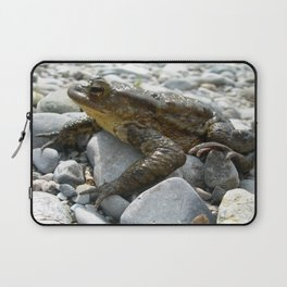 Bufo Bufo Toad Lounging On Stones Laptop Sleeve