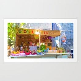 """Mexico Juice Stand Yelapa Style"" Art Print"