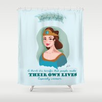 downton abbey Shower Curtains featuring Lady Sybil Crawley Downton Abbey by chiclemonade