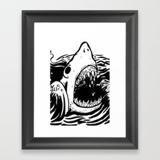 Shark off Framed Art Print