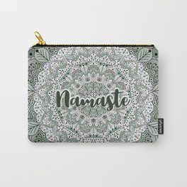 Green floral mandala Namaste Carry-All Pouch