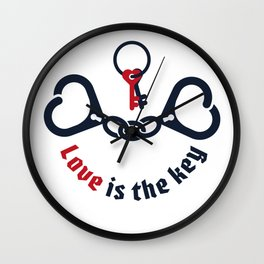 LOVE IS THE KEY Wall Clock