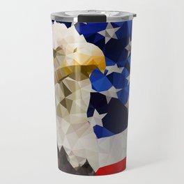 American Eagle and Flag Travel Mug