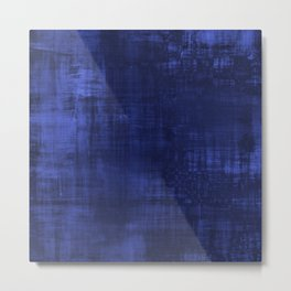 Distressed Blue Abstract Metal Print