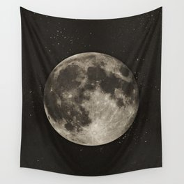 The Moon  [Sans Type] Wall Tapestry