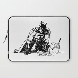 Cleaning up Gotham City Laptop Sleeve
