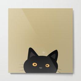 Curious cat Metal Print