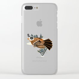 Brown Tanager Clear iPhone Case