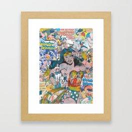 Woman of Wonder - Comic Art Framed Art Print