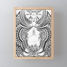 Yoga Girl Framed Mini Art Print