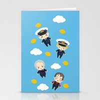cabin pressure Stationery Cards featuring Cabin Pressure: The Lemon is With You by Le Bear Polar