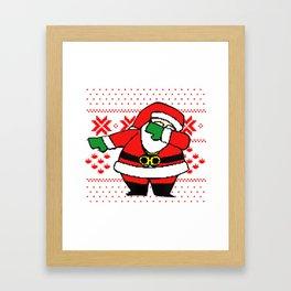Santa Dab On Em Framed Art Print