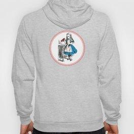 Alice in Wonderland | Drink Me Bottle | Pink Damask Pattern | Hoody