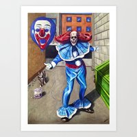The Circus is coming to town. Art Print