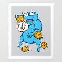 cookies Art Prints featuring Cookies by MOONGUTS (Kyle Coughlin)